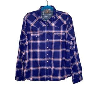 Jach's Girlfriend Purple Plaid Button Down Shirt